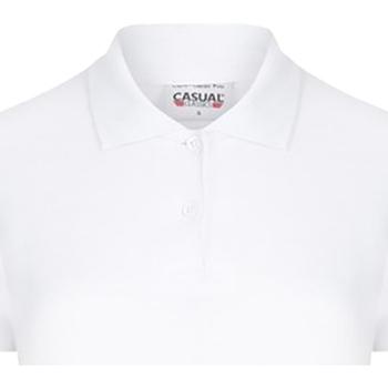 Textiel Dames Polo's korte mouwen Casual Classics  Wit