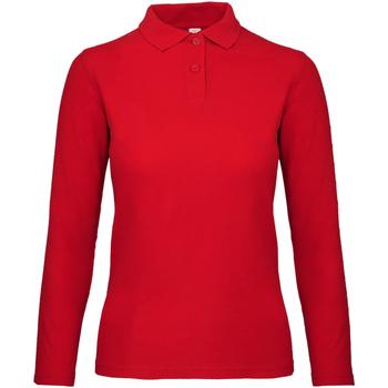Textiel Dames Polo's lange mouwen B And C PWI13 Crimson