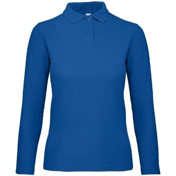 Textiel Dames Polo's lange mouwen B And C PWI13 Koningsblauw