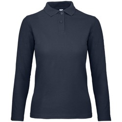 Textiel Dames Polo's lange mouwen B And C PWI13 Ultramarijn