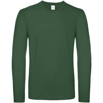 Textiel Heren T-shirts met lange mouwen B And C TU05T Fles groen