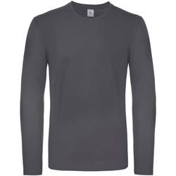 Textiel Heren T-shirts met lange mouwen B And C TU05T Donkergrijs