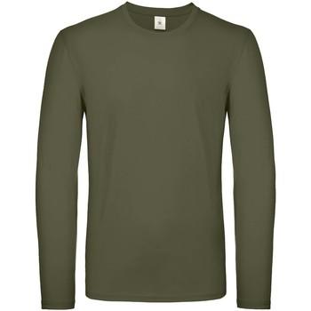 Textiel Heren T-shirts met lange mouwen B And C TU05T Stedelijke Khaki