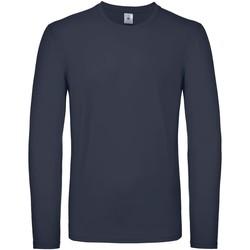 Textiel Heren T-shirts met lange mouwen B And C TU05T Marine
