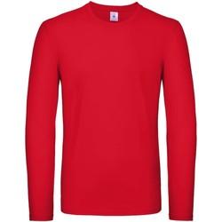 Textiel Heren T-shirts met lange mouwen B And C TU05T Rood