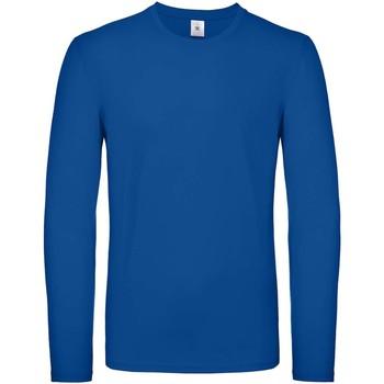Textiel Heren T-shirts met lange mouwen B And C TU05T Koningsblauw