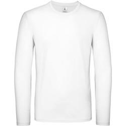 Textiel Heren T-shirts met lange mouwen B And C TU05T Wit