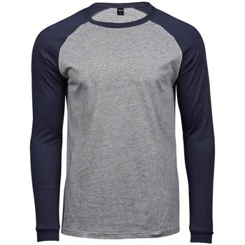Textiel Heren T-shirts met lange mouwen Tee Jays T5072 Heide Grijs/Navy