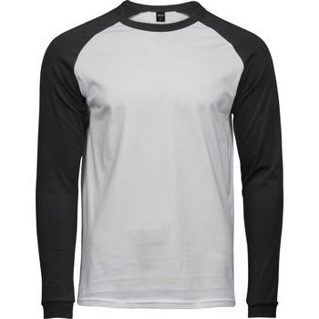 Textiel Heren T-shirts met lange mouwen Tee Jays T5072 Wit/zwart