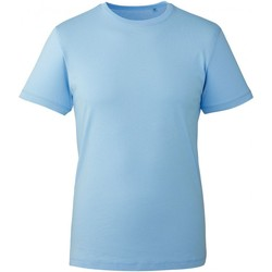 Textiel Heren T-shirts korte mouwen Anthem AM010 Lichtblauw