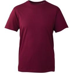 Textiel Heren T-shirts korte mouwen Anthem AM010 Bourgondië