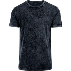 Textiel Heren T-shirts korte mouwen Build Your Brand BY070 Donkergrijs/Wit