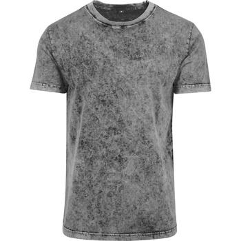 Textiel Heren T-shirts korte mouwen Build Your Brand BY070 Grijs/Zwart