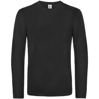Textiel Heren T-shirts met lange mouwen B And C TU07T Zwart