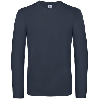 Textiel Heren T-shirts met lange mouwen B And C TU07T Marine
