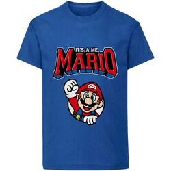 Textiel Kinderen T-shirts korte mouwen Super Mario  Blauw