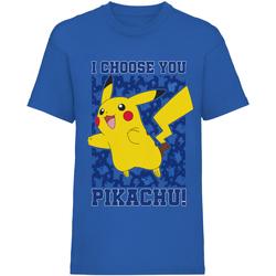 Textiel Kinderen T-shirts korte mouwen Pokemon  Blauw