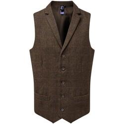 Textiel Heren Anzugweste Premier PR625 Bruine ruit
