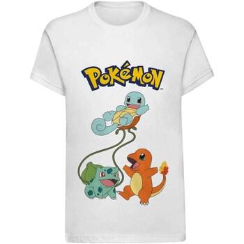 Textiel Kinderen T-shirts korte mouwen Pokemon  Wit