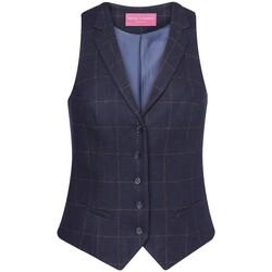 Textiel Dames Anzugweste Brook Taverner BK521 Navy Check
