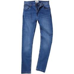 Textiel Heren Straight jeans Awdis SD004 Midden-blauwe wassing