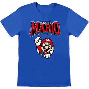 Textiel T-shirts korte mouwen Super Mario  Blauw/rood