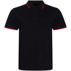 Textiel Heren Polo's korte mouwen Awdis JP003 Zwart/Rood