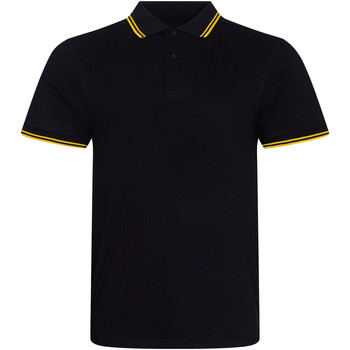 Textiel Heren Polo's korte mouwen Awdis JP003 ZWART/GEEL