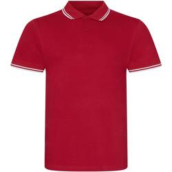 Textiel Heren Polo's korte mouwen Awdis JP003 Rood/wit