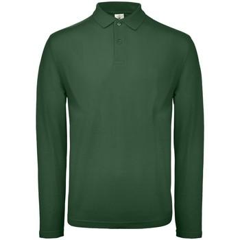 Textiel Heren Polo's lange mouwen B And C BA290 Fles groen