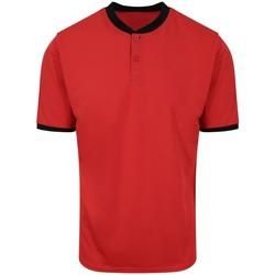 Textiel Heren Polo's korte mouwen Awdis JC044 Brand Rood/Jet Zwart