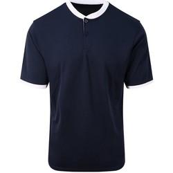 Textiel Heren Polo's korte mouwen Awdis JC044 Franse marine / Arctisch Wit