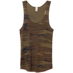 Textiel Dames Mouwloze tops Alternative Apparel AT003 Camo