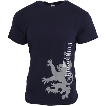 Textiel Heren T-shirts korte mouwen Universal Textiles  Marine