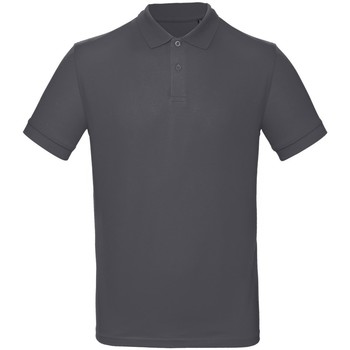 Textiel Heren Polo's korte mouwen B And C PM430 Donkergrijs