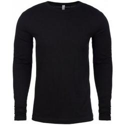 Textiel Heren T-shirts met lange mouwen Next Level NX3601 Zwart