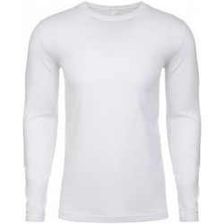 Textiel Heren T-shirts met lange mouwen Next Level NX3601 Wit
