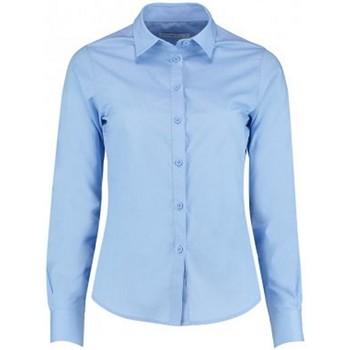 Textiel Dames Overhemden Kustom Kit K242 Lichtblauw