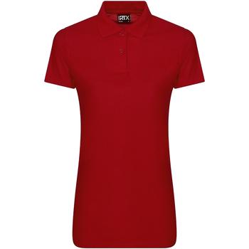 Textiel Dames Polo's korte mouwen Pro Rtx RX105F Rood