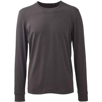 Textiel Heren T-shirts met lange mouwen Anthem AM11 Houtskool Grijs