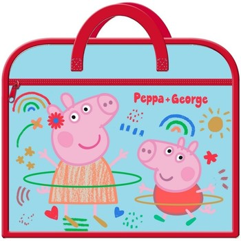 Tassen Kinderen Schooltassen Peppa Pig  Blauw/rood