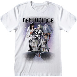 Textiel T-shirts korte mouwen Beetlejuice  Wit