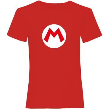 Textiel T-shirts korte mouwen Super Mario  Rood/Wit