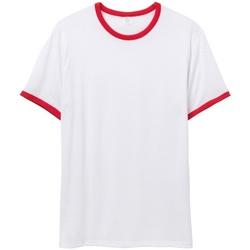 Textiel Heren T-shirts korte mouwen Alternative Apparel AT013 Wit/rood