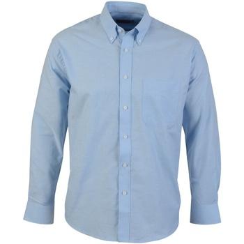 Textiel Heren Overhemden lange mouwen Absolute Apparel  Blauw