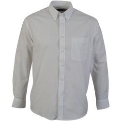 Textiel Heren Overhemden lange mouwen Absolute Apparel  Wit