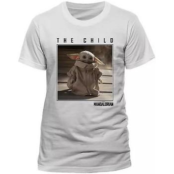 Textiel T-shirts korte mouwen Star Wars: The Mandalorian  Wit
