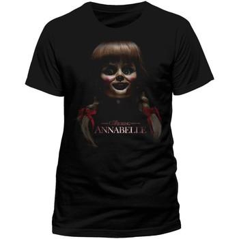 Textiel T-shirts korte mouwen Annabelle  Zwart