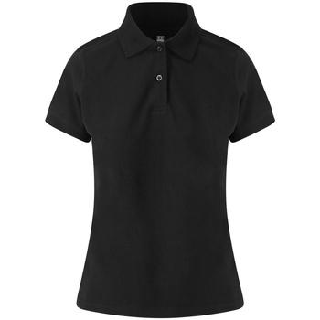 Textiel Dames Polo's korte mouwen Awdis JP02F Zwart