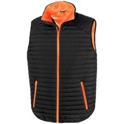 Textiel Jacks / Blazers Result R239X Zwart/Oranje
